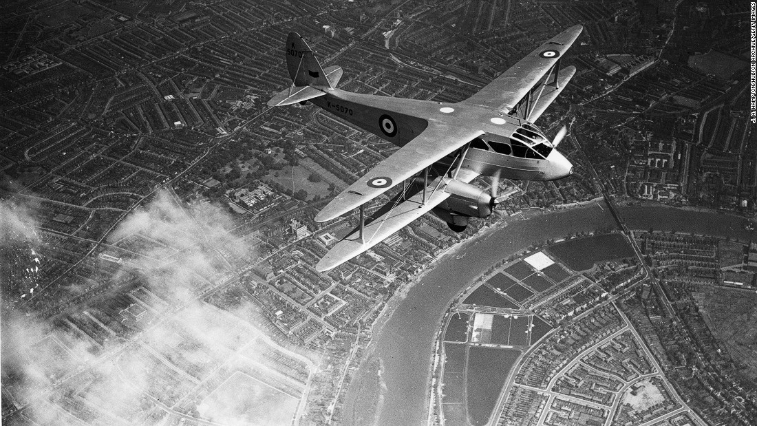 The de Havilland Dragon Rapide played a role in mid-20th-century history, carrying both General Francisco Franco and Charles De Gaulle on key operations in the 1930s and 1940s. Here is a Dragon Rapide in the Royal Air Force's livery in 1935.