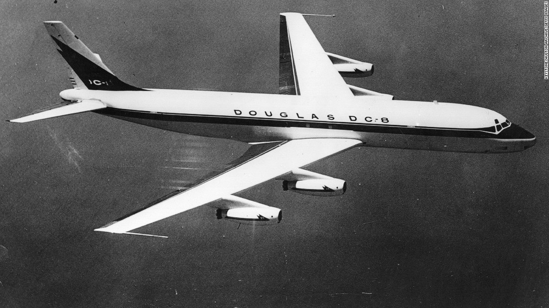 A contemporary rival of the Boeing 707, the DC-8 was the first plane to break the sound barrier -- for 16 seconds during a test flight.
