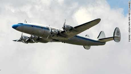 The Super Constellation was known for its distinctive triple tail.