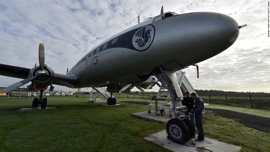 """Only a handful of Super Constellations are still flying. Here is a rare """"Super Connie"""" restored by  Amicale du Super Constellation, an association dedicated to restoring and preserving this flagship of French aviation."""