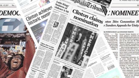 cnnee pkg marta garcia portadas periodicos dia despues candidatura hillary clinton_00005724