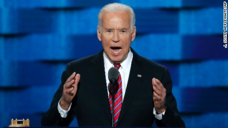 Vice President Joe Biden speaks during the third day of the Democratic National Convention in Philadelphia , Wednesday, July 27, 2016