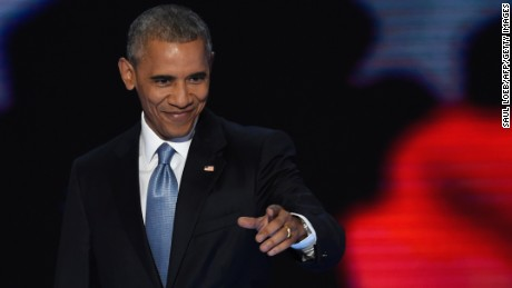 US President Barack Obama arrives to address Day 3 of the Democratic National Convention at the Wells Fargo Center, July 27, 2016 in Philadelphia, Pennsylvania.