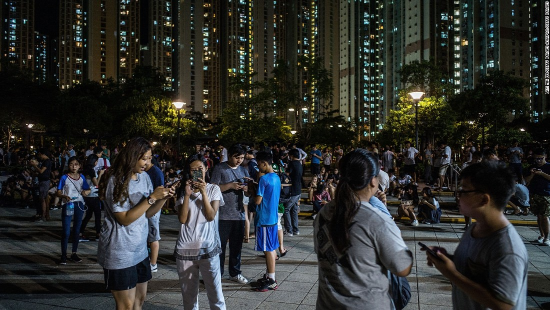 Pokémon Gyms and Pokéstops -- where players can acquire in-game items -- are located at points of interest and tourist spots such as The Peak and Victoria Park in Hong Kong.