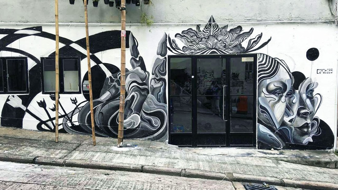 Recently, Air Ink was used to create murals on the streets of Hong Kong.