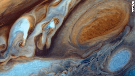 Voyager 1 at Jupiter - Red spot