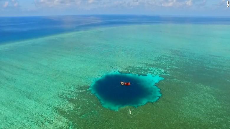 Sinkhole in ocean
