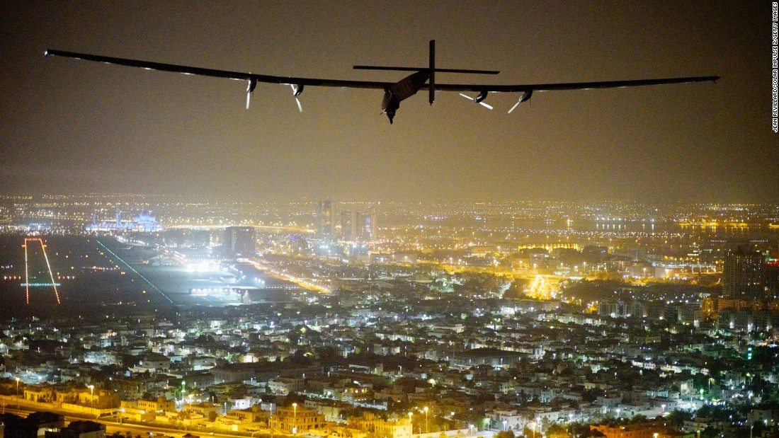 "The Solar Impulse 2 prepares for its historic landing Tuesday, July 26, in Abu Dhabi, United Arab Emirates. The solar-powered plane, flown by Swiss pilots Bertrand Piccard and Andre Borschberg, <a href=""http://www.cnn.com/2016/07/26/world/solar-impulse-returns-jensen/"" target=""_blank"">traveled around the world without using a single drop of fuel.</a> The journey was completed in 17 stages across four continents."