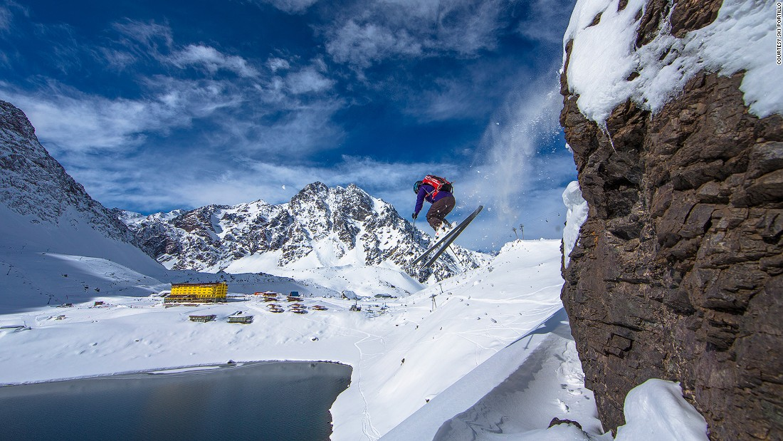 "Portillo is home to the world's only ""slingshot,"" a six-abreast, avalanche-defying draglift that pulls skiers up steep, ungroomed slopes at a greater speed than many later descend."