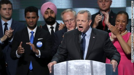 PHILADELPHIA, PA - JULY 28:  Ret. Gen. John Allen delivers remarks on the fourth day of the Democratic National Convention at the Wells Fargo Center, July 28, 2016 in Philadelphia, Pennsylvania. Democratic presidential candidate Hillary Clinton received the number of votes needed to secure the party's nomination. An estimated 50,000 people are expected in Philadelphia, including hundreds of protesters and members of the media. The four-day Democratic National Convention kicked off July 25.  (Photo by Alex Wong/Getty Images)