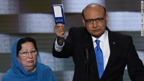 Father of slain Muslim US soldier to Donald Trump: 'You have sacrificed nothing and no one'