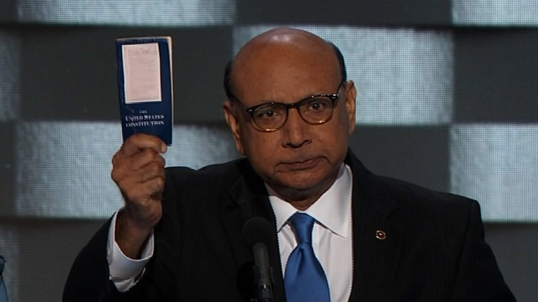 Fallen Muslim soldier's dad to Trump: Read Constitution
