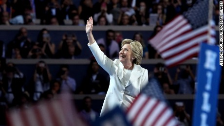 Key moments in Hillary Clinton's acceptance speech