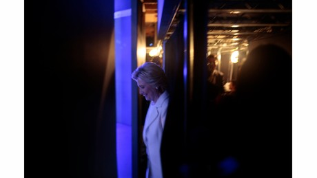 Behind the scenes with Hillary Clinton on Thursday, July 28, 2016, during her speech at the Democratic National Convention.
