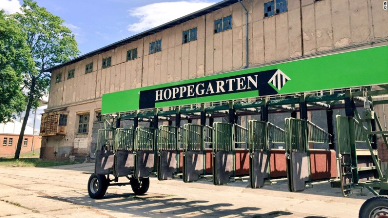 The exterior of Hoppegarten racetrack on the outskirts of Berlin, Germany.
