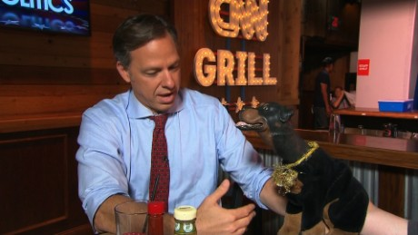 Jake Tapper with Triumph the Insult Dog