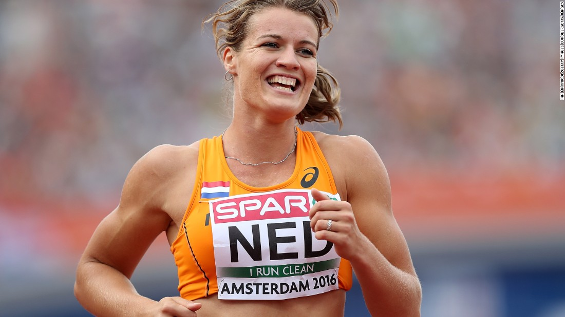 Schippers started out playing tennis before switching to track and field.