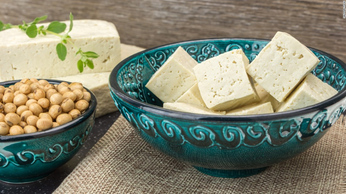 Soy also serves as a source of protein, such as in the form of tofu.