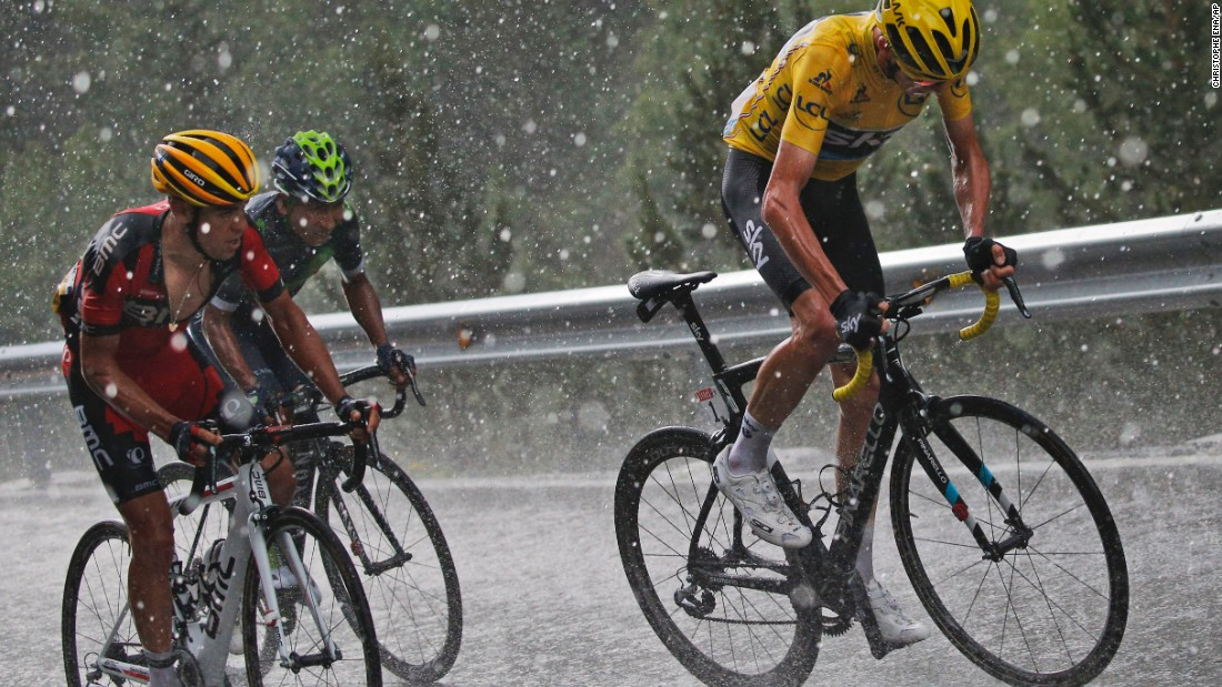 "From left, cyclists Richie Porte, Nairo Quintana and Chris Froome compete in the ninth stage of the Tour de France on Sunday, July 10. Froome would go on <a href=""http://www.cnn.com/2016/07/24/sport/tour-de-france-2016/index.html"" target=""_blank"">to win the event</a> for the third time in his career."