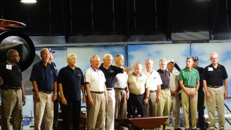 Fourteen former SR-71 crew members gathered for a reunion Saturday at the Museum of Aviation in Warner Robins, Georgia.