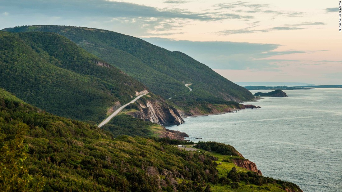Cape Breton Island draws visitors to northeastern Nova Scotia with sweeping views from the Cabot Trail, an 185-mile drive that hugs rugged coasts and loops through forested highlands.