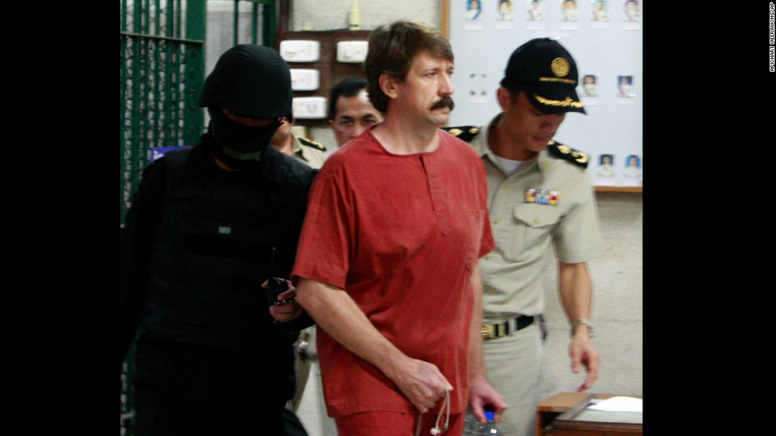 "Thailand extradited arms dealer Viktor Bout to the United States <a href=""http://www.cnn.com/2010/WORLD/asiapcf/11/16/thailand.extradition/"" target=""_blank"">in 2010,</a> drawing swift criticism from his native Russia, which called the extradition illegal. In 2012, Bout was sentenced to 25 years behind bars ""for agreeing to provide a staggering number of military-grade weapons to an avowed terrorist organization committed to killing Americans,"" <a href=""http://www.cnn.com/2012/04/06/justice/russia-us-viktor-bout-case/"" target=""_blank"">prosecutors said at the time.</a> Bout, who some have dubbed the ""merchant of death,"" denied any wrongdoing."