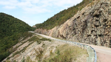 A northern stretch of the Cabot Trail snakes across Cape Breton Highlands National Park.