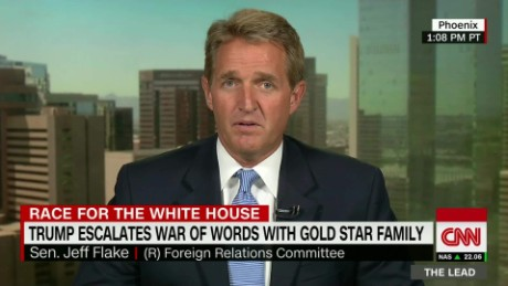 jeff flake donald trump gold star family lead tapper intv_00040730