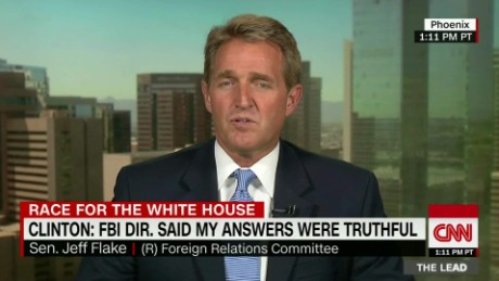 jeff flake donald trump gold star family lead tapper intv_00015218