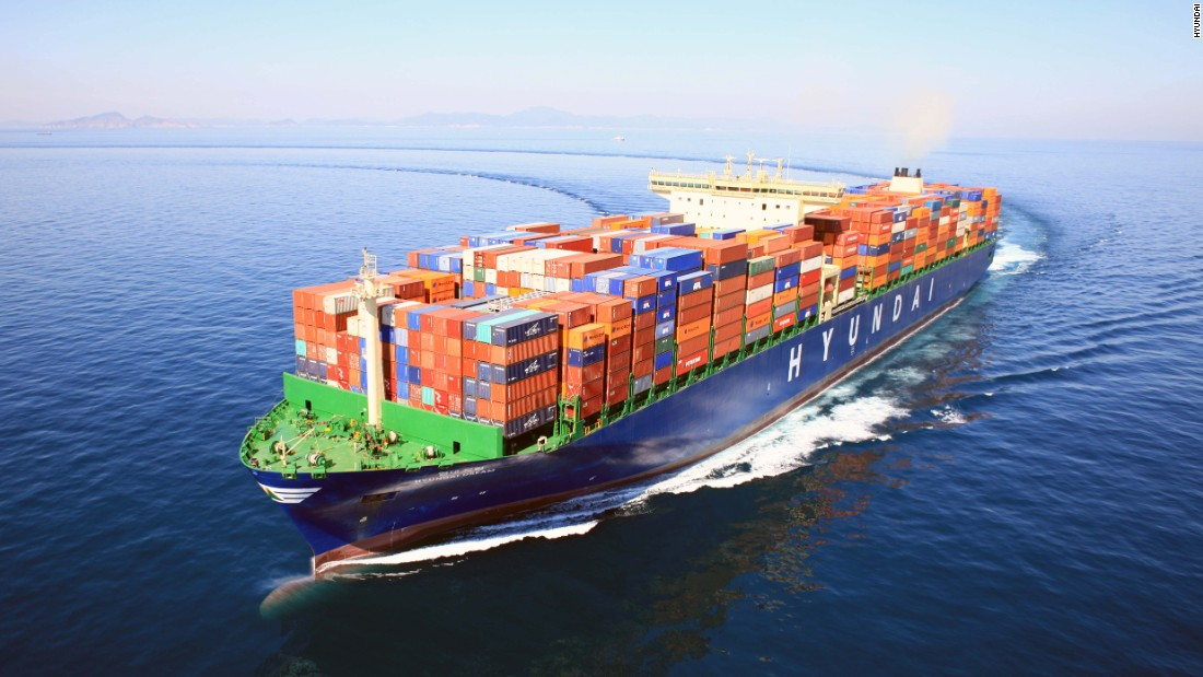 South Korea's Hyundai isn't just a multi-national car maker, it has a diverse range of activities including construction, chemicals, electronics, financial services, heavy industry and shipbuilding. This is one of the fleet of huge container ships operated by Hyundai Merchant Marine (HMM).