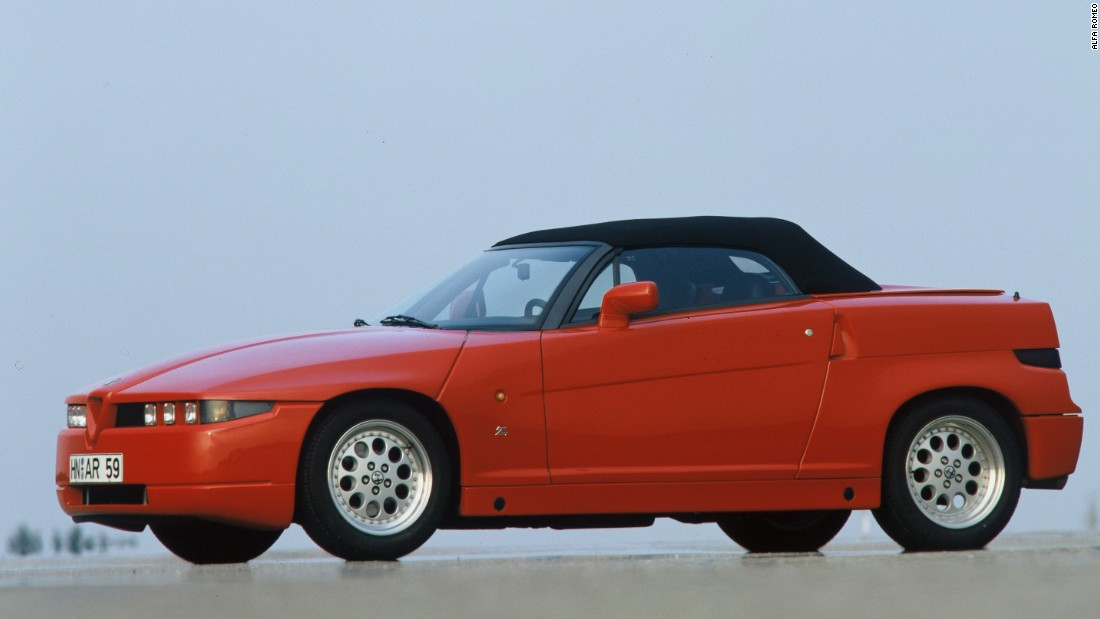 One of the most dramatic-looking cars of the nineties, the RZ (Roadster Zagato), named after the iconic Italian styling house that built the car on behalf of Alfa Romeo -- was actually pretty conventional underneath. It's worth a fortune these days, helped by the fact that Zagato went bust before the planned production run of 350 cars could be completed. Just 284 were made.