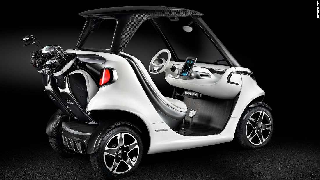 Mercedes-Benz has joined forces with golf cart maker Garia to produce the most luxurious cart ever -- the Mercedes-Benz Style Edition Garia Golf Car. It's electric, looks like a doorless Smart Fortwo and has a top speed of just 18.6mph with a range of nearly 50 miles.