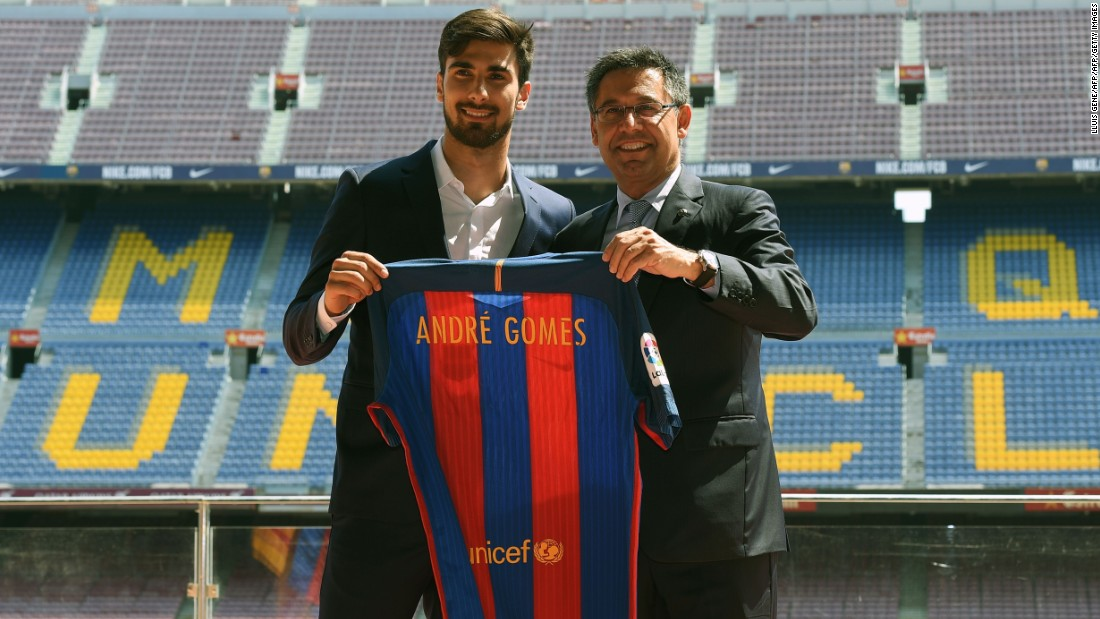 On July 21, Andre Gomes joined Barcelona from Valencia for an initial fee of €35 million ($39 million) after a successful Euro 2016 in which the midfielder helped Portugal win its first international title.