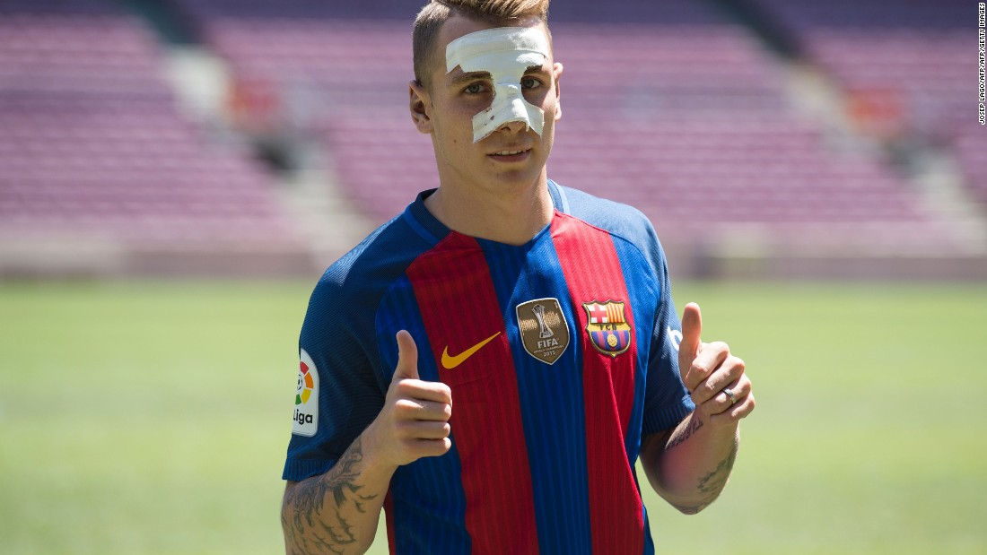 Barcelona also completed the €16.5 million ($18.4 million) signing of France international left-back Lucas Digne from Paris Saint-Germain on July 13.