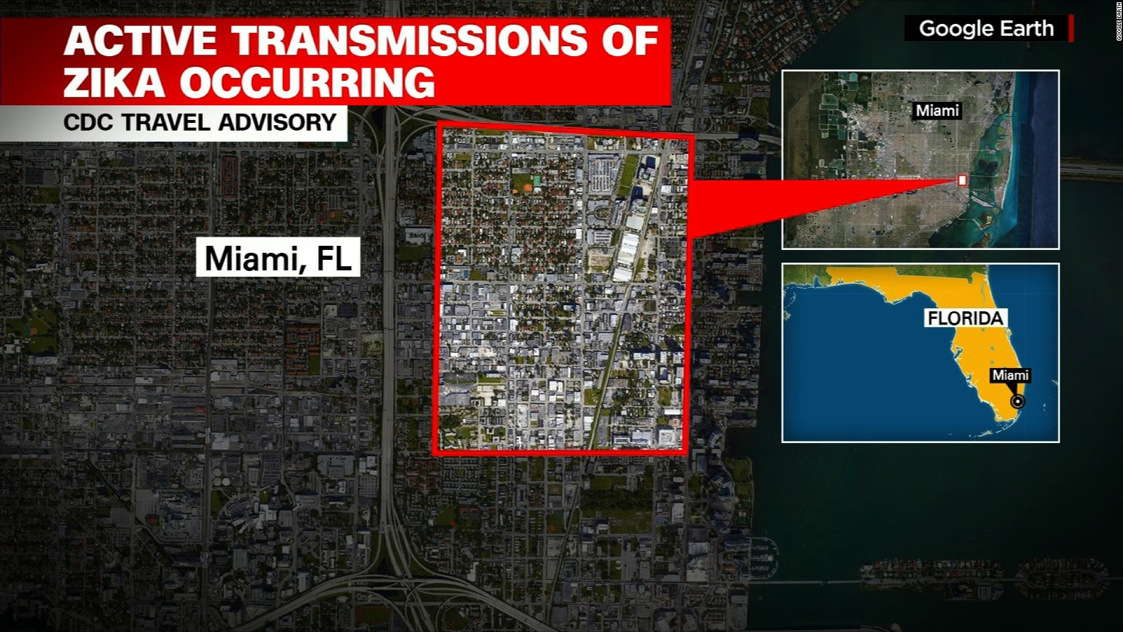 Zika In Miami Mayor Hopes Spraying Stops Its Spread CNN - Map of florida counties with zika