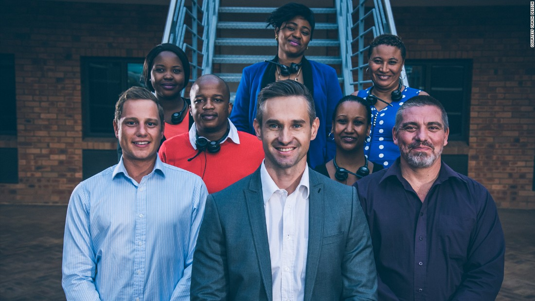 The product is the brainchild of Johannesburg- based entrepreneur, Jaco Gerritts (center) and his team.