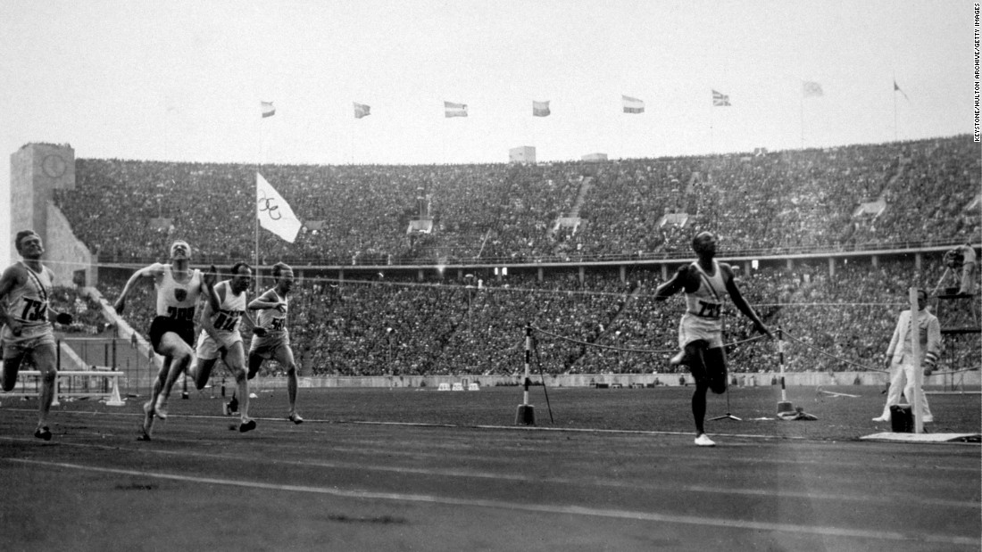 "<strong>Owens makes a statement:</strong> U.S. track star Jesse Owens won four gold medals at the 1936 Summer Games, which took place in Berlin during the rule of Adolf Hitler and Nazi Germany. Hitler wanted the Games to showcase what he believed to be the racial superiority of white Aryan athletes, <a href=""http://www.cnn.com/2016/08/04/sport/gallery/tbt-jesse-owens/index.html"" target=""_blank"">but Owens spoiled that idea</a> and became a cultural icon."