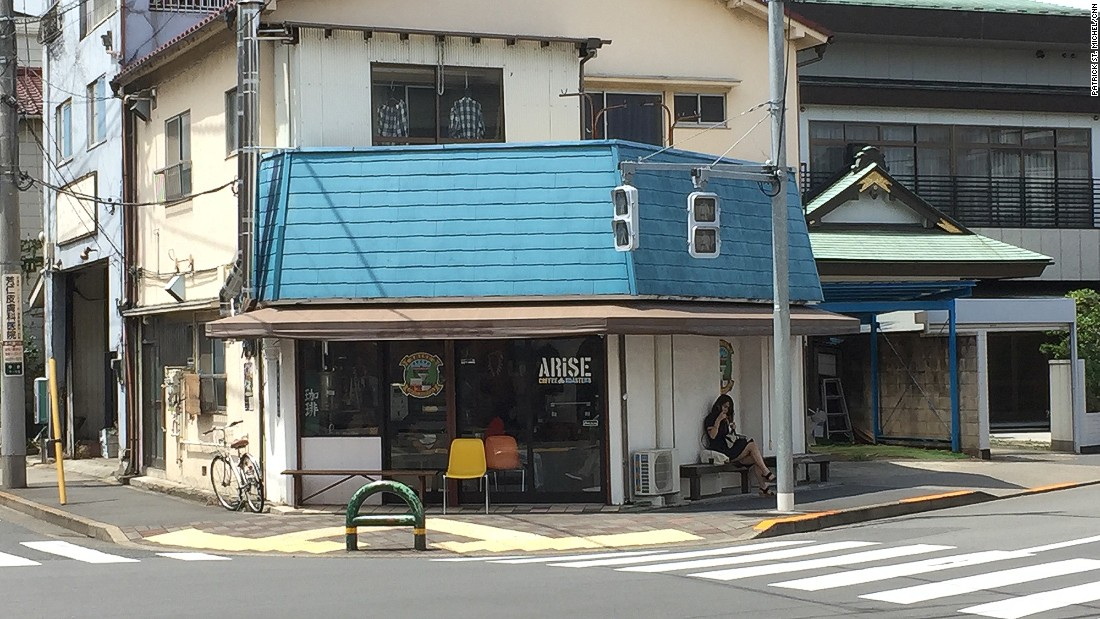 The neighborhood features an abundance of coffee shops, including the intimate Arise Coffee Roasters.
