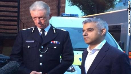 Police Commissioner Bernard Hogan-Howe and London Mayor Sadiq Khan.