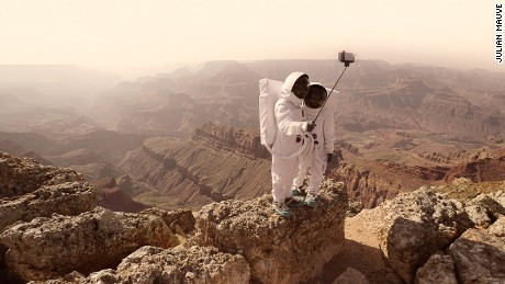 Would you take a selfie on Mars? Julien Mauve snaps interplanetary tourists