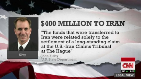 US sent plane with $400 million in cash to Iran