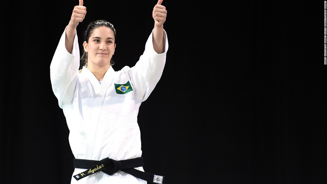 Mayra Aguiar is a favorite for Olympic gold in the women's -78kg judo category at Rio 2016. Also watch out for team-mate Sarah Menezes on the opening day of the Games.<br />
