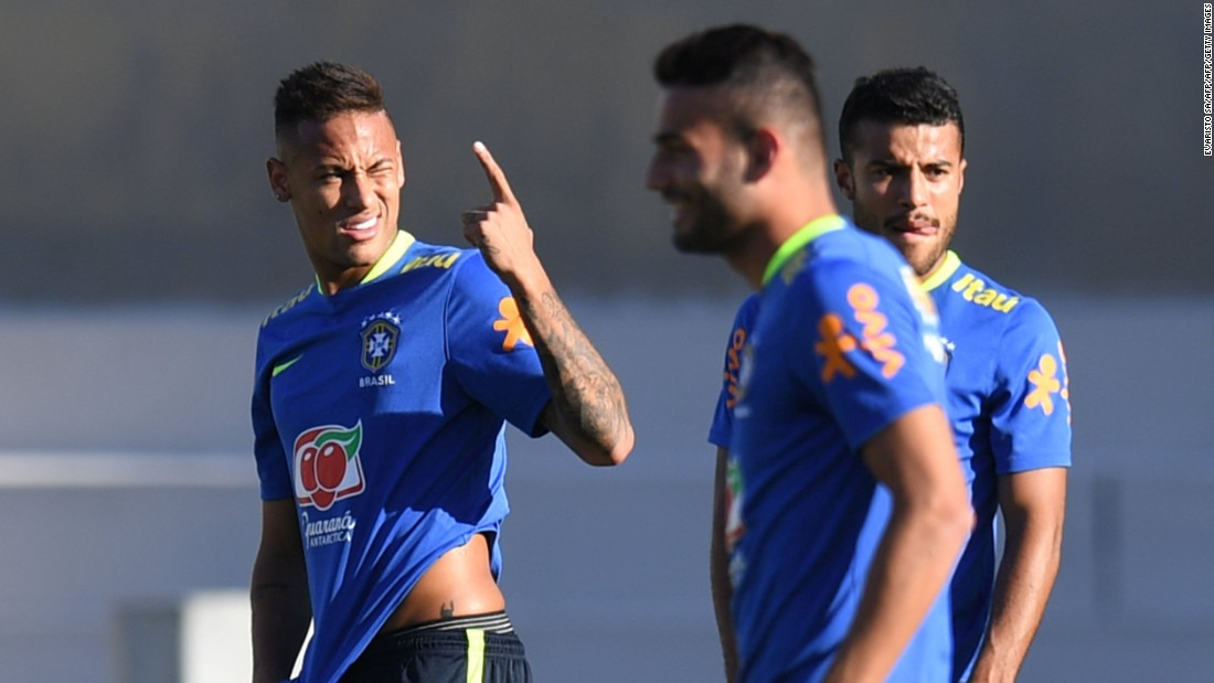 Neymar, left, is captain of a Brazil men's football team looking to improve on silver at London 2012 and a poor World Cup performance on home soil in 2014.<br />