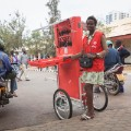mobile solar charging kiosk Jeanne Rwanda