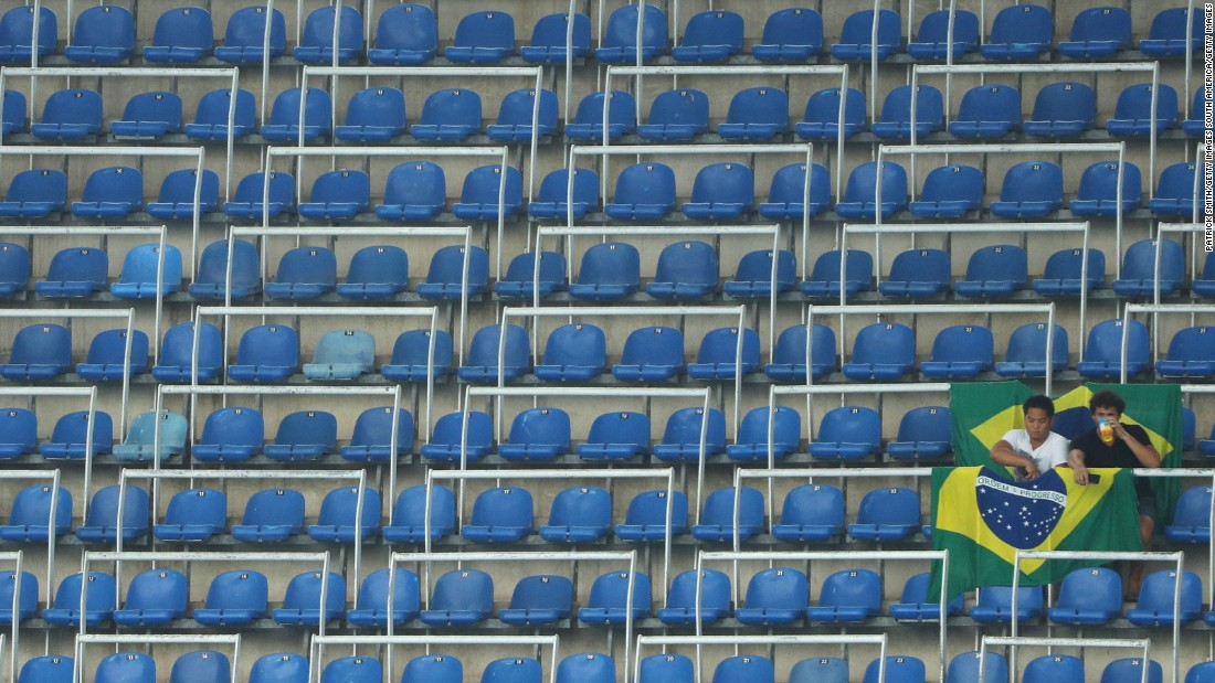It played host to two women's football matches. The first saw Sweden play South Africa, with the 60,000-seater stadium eerily quiet for the group stage tie.