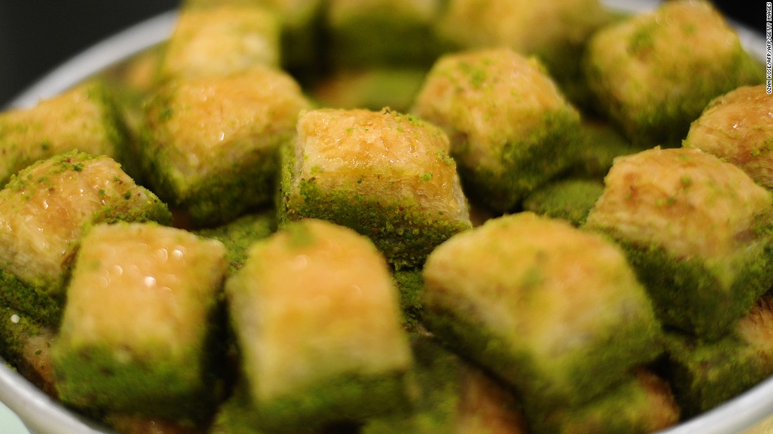 There's always room for baklava at the end of a Turkish meal. Those from Gaziantep province are made of layers of filo pastry filled with semolina cream and Antep pistachio. They became the first Turkish product to be recognized as a protected dish by the European Union in 2013.