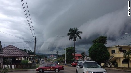 Tourist Sean Williams said the clouds in Belize are getting darker.