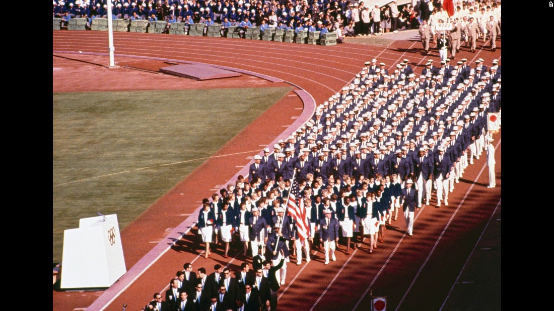 <strong>Tokyo, 1964:</strong> The important takeaway from looking back on decades of Olympic uniforms is that white pants didn't just happen to us. We LET them happen to us, over and over again.