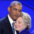 obama clinton hug DNC