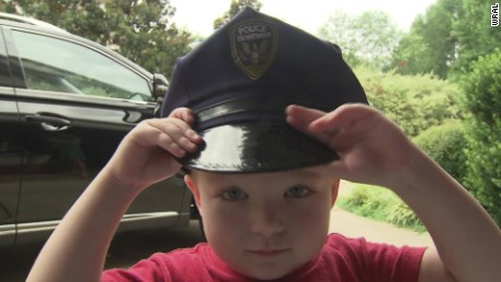 Boy with leukemia cop dream pkg_00013311